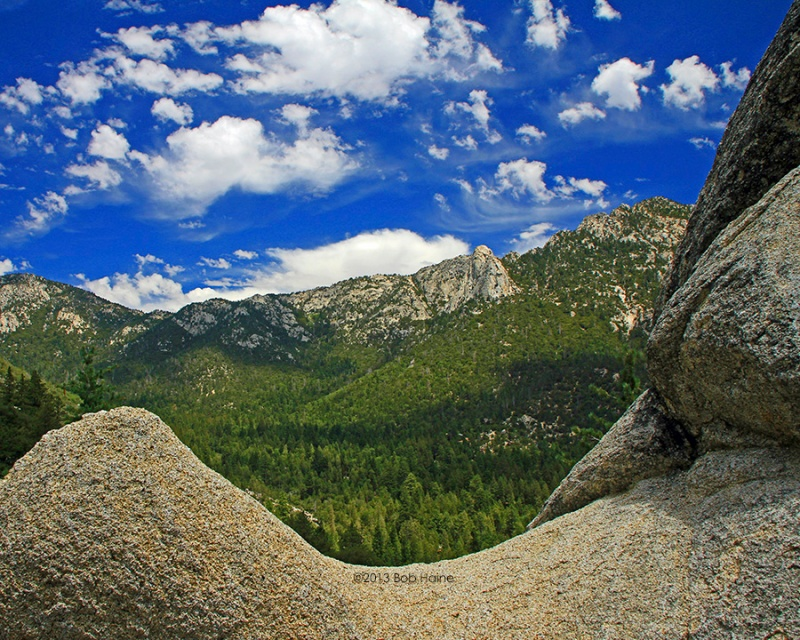 Clouds Blue Sky Over Tahquitz Photo by Bob Haine